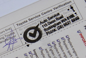 Log book Servicing on cars, four wheel drives and light commercial vehicles